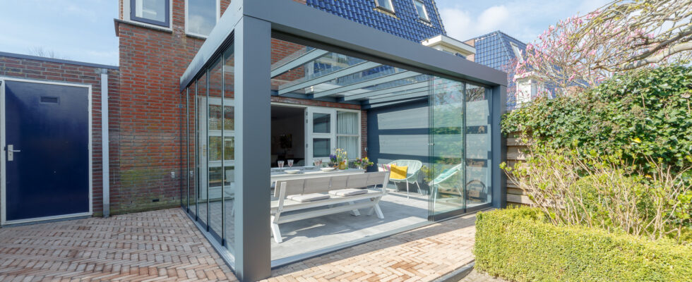 aluminium terrasoverkapping van Verasol